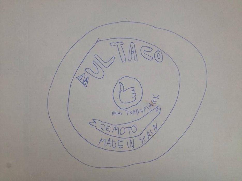 copia del primer boceto de Bultaco realizado por Paco Bultó