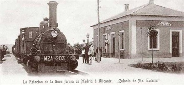 Estación de tren, demolida en los años 90