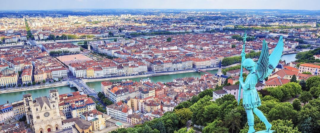 Estampa desde lo alto de Lyon, espectacular (Fodor´s Travel)