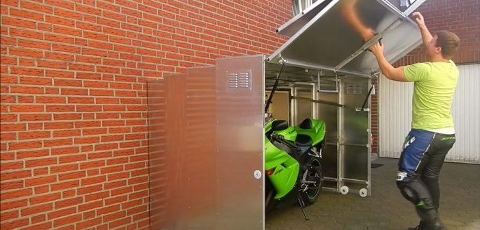 Mini Garajes para tu moto: 16 inventos que te sorprenderán