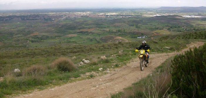 Ruta en moto trail offroad: Bajo Aragón